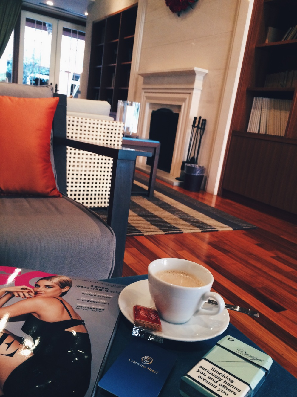 Coffee time at Celestine Hotel - Tokyo